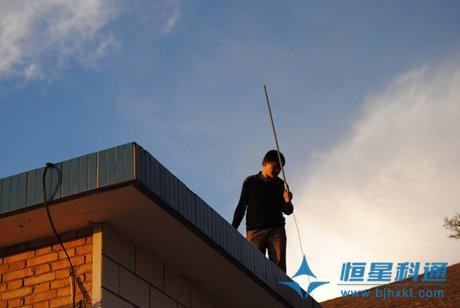 宁夏盐池县农村广播大喇叭工程紧张施工中